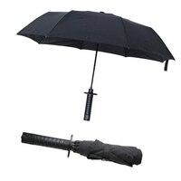 2016 New Ninja Samurai Dagger Collapsible Umbrella Semi Automatic Sunny And Rainy Travel Foliding Umbrella Outdoor