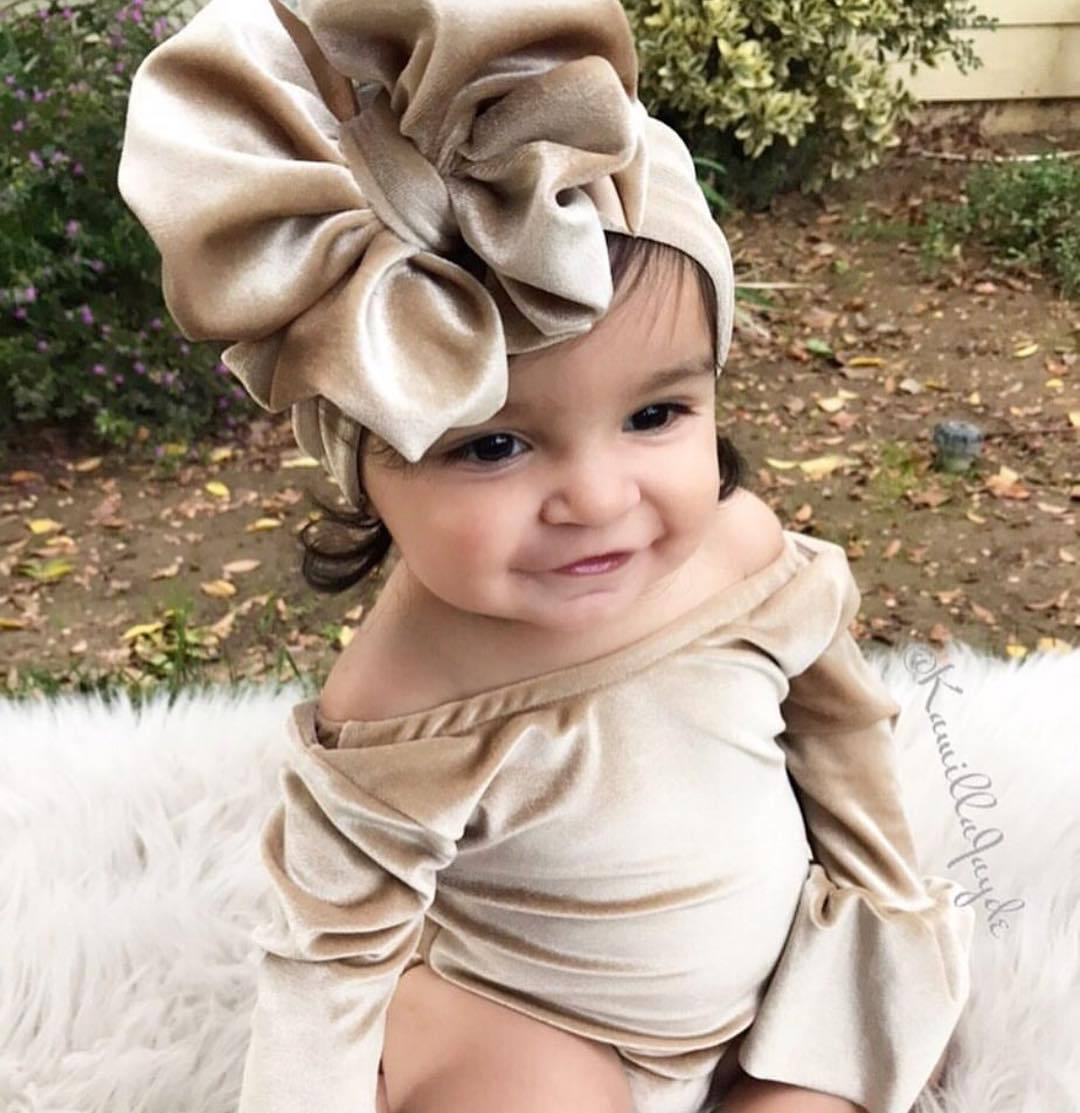 Baby Body Rushed Real Solid O-neck Polyester Fashion Bodysuit Baby Twins 2018 Light Luxurious Velvet Big Swinging Sleeve Dress
