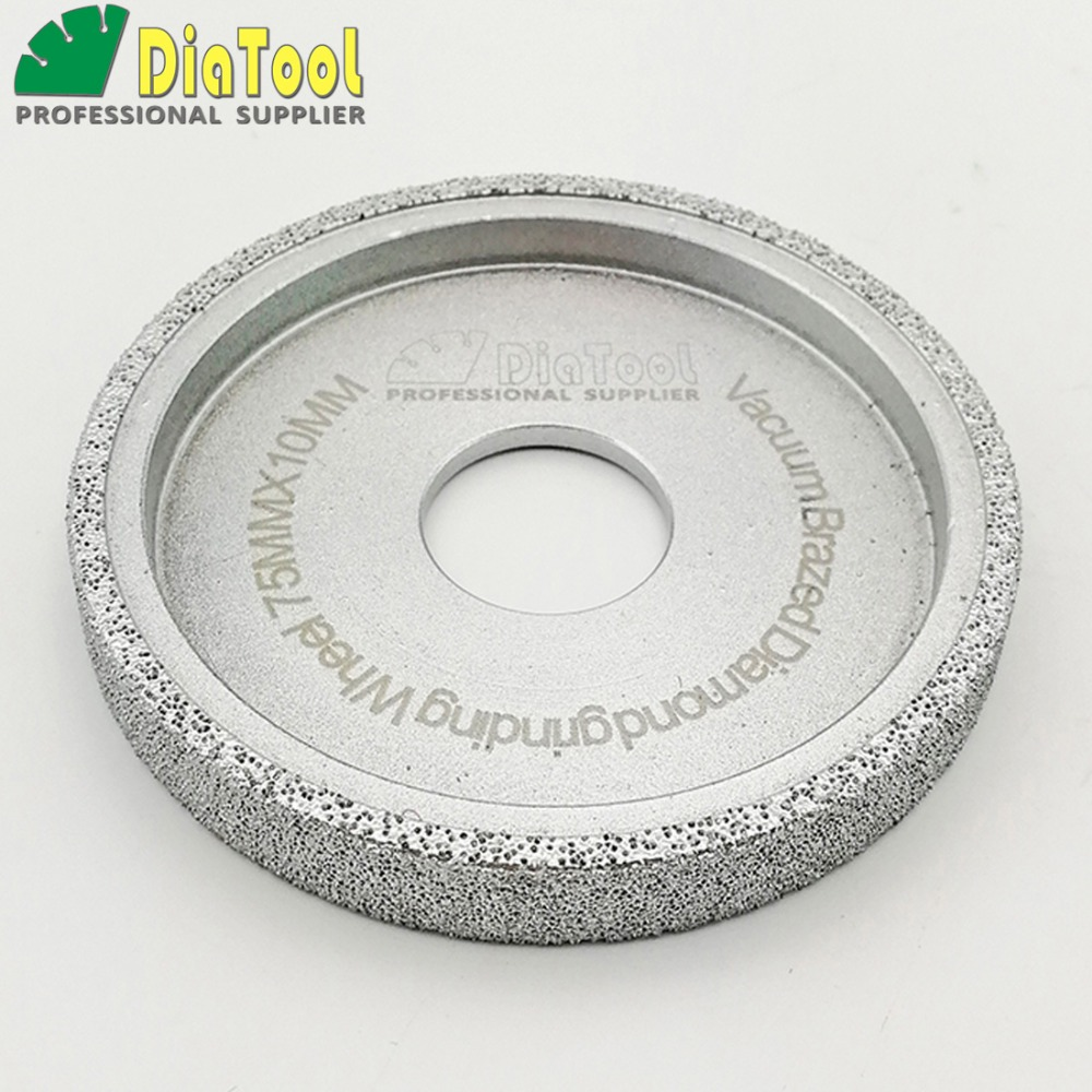 632.85руб. 15% OFF|DIATOOL Dia 3 Inches/75mm Flat Vacuum Brazed Diamond Profile Grinding Wheel Diamond Disc Thickness 10/15/20/25/30MM available|diamond disc|grinding wheels diamond|diamond profile - AliExpress