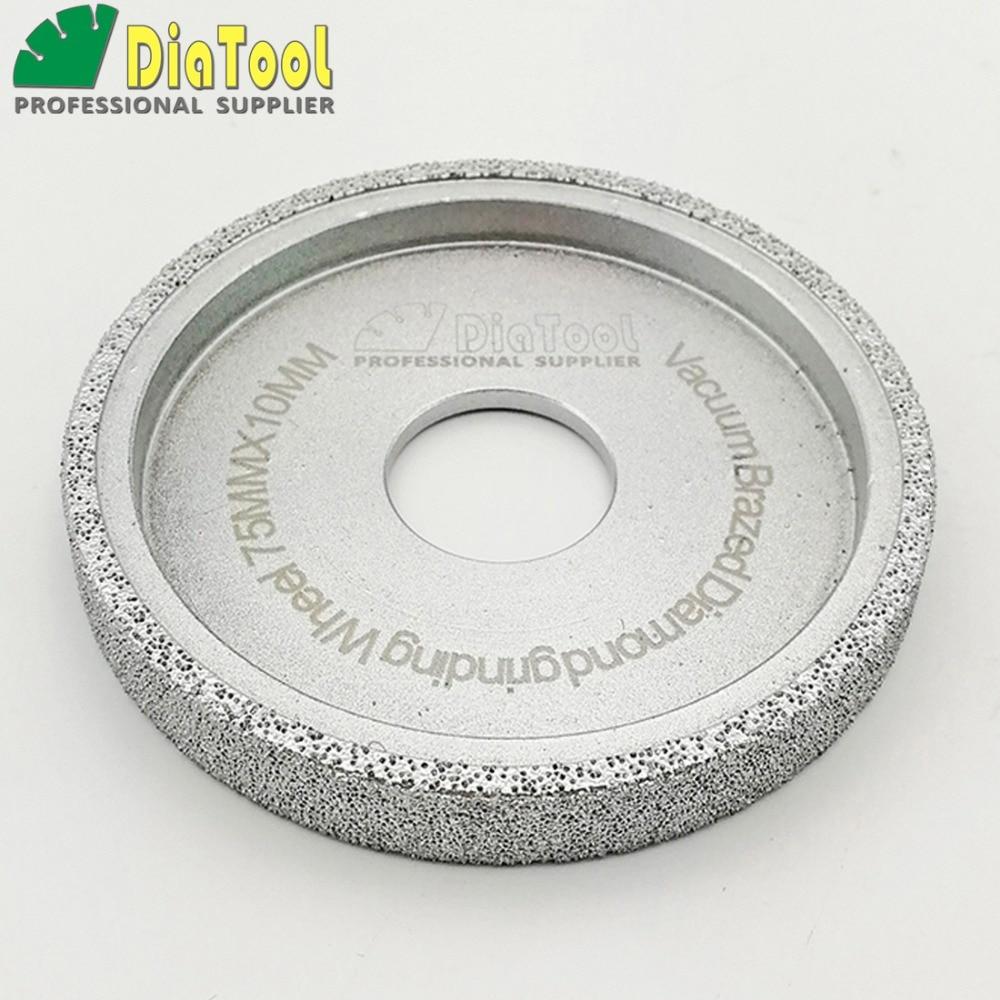 632.85руб. 15% OFF|DIATOOL Dia 3 Inches/75mm Flat Vacuum Brazed Diamond Profile Grinding Wheel Diamond Disc Thickness 10/15/20/25/30MM available|diamond disc|grinding wheels diamond|diamond profile - AliExpress