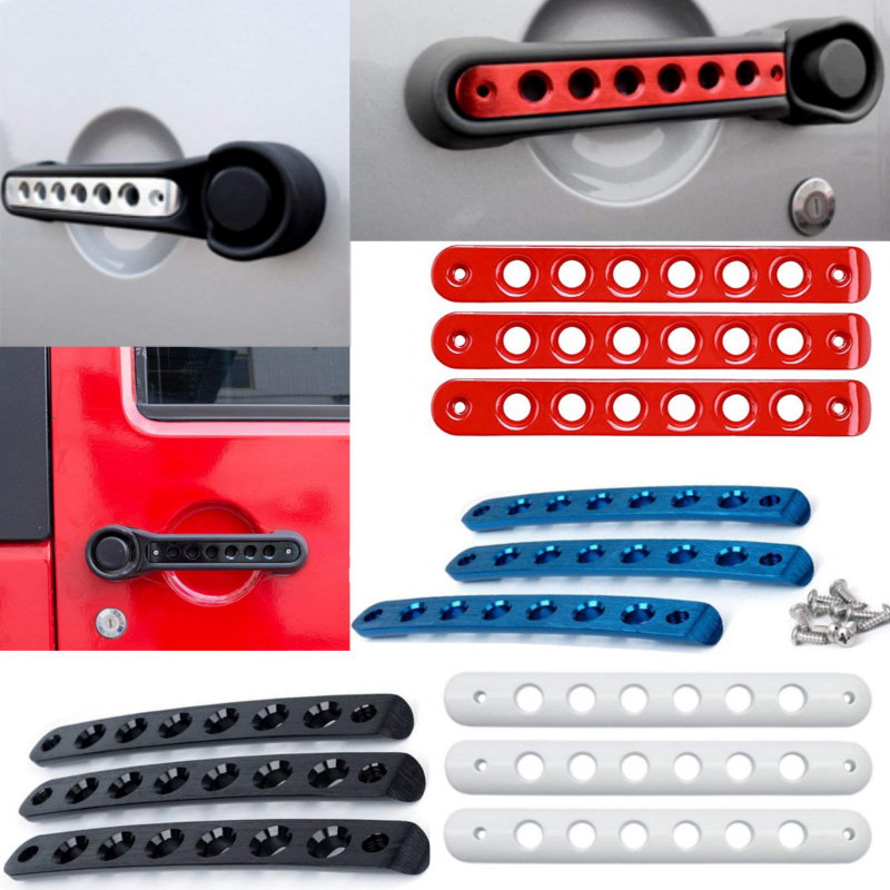 5 Color For Jeep Wrangler 07-16 2-Doors Door Handle Bowl Cover Frame Decor ABS