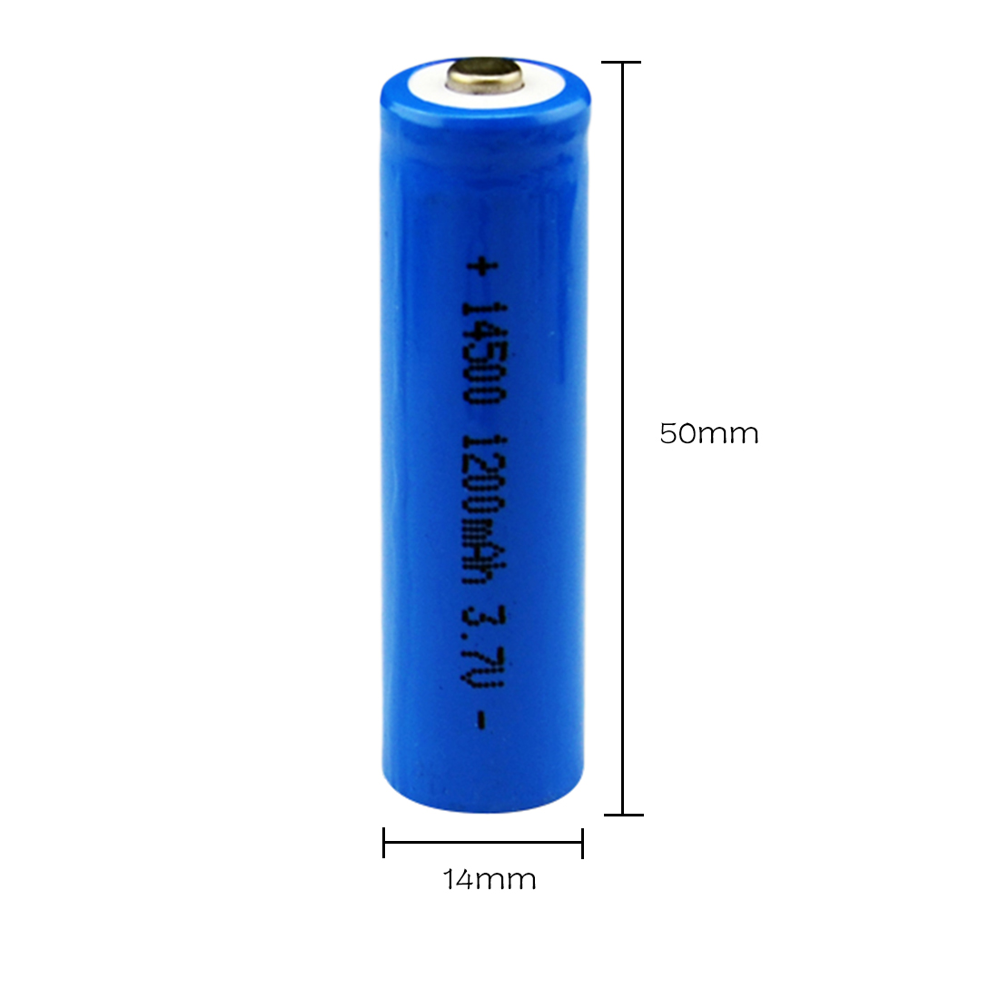 Centechia 8 pcs High Capacitance 14500 Battery 3.7V 1300mAh Rechargeable Battery for Led Flashlight Batery Battery Newest