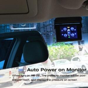 Image 2 - EANOP S368 שמש TPMS 2.4 TFT LCD רכב צמיג לחץ ניטור מערכת 4pcs פנימי חיצוני חיישני אזעקה עבור אוניברסלי מכוניות