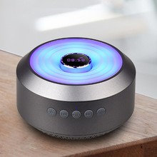 Bluetooth Speaker Portable LED Wireless Speaker Colorful Light Visual Display Mode Powerful Sound Built-in Mic Boombox