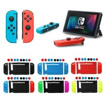 11 in 1 Silicone Case for Nintend Switch NS Console JoyCon Protective Skin Cover With Thumbstick Grips Stick Grip Caps