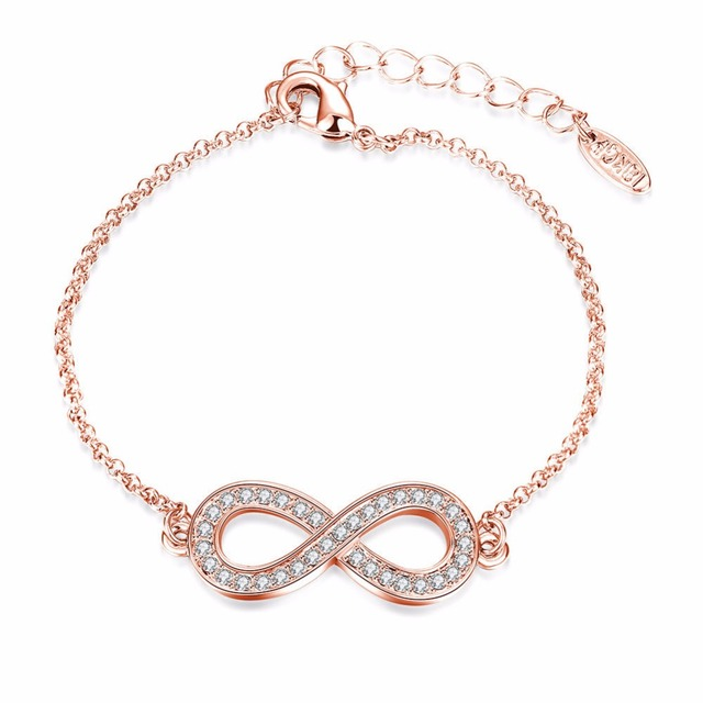 Swater Bff Best Friend Forever Love Infinite Symbol Bangle Crystal
