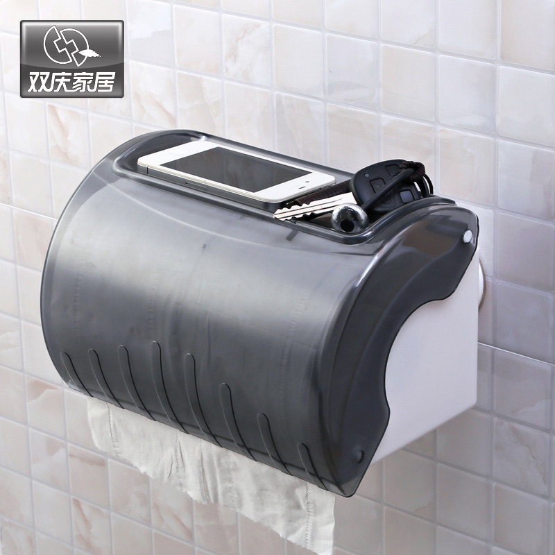 Holder for Papers waterproof long roll holder wall suction toilet paper tissue box 1938