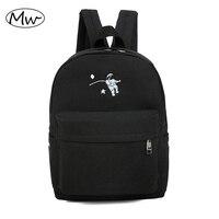 Bordado divertido impresión mochila estudiantes de secundaria mochila bolsa de ordenador portátil mochila de escolar para niñas regalo M111