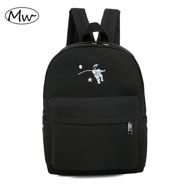 Funny Embroidery Printing Backpack Junior High School Students