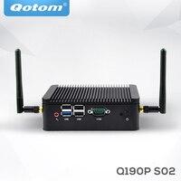 Linux Смарт Мини компьютер коробка Q190P Поддержка 720 P 1080 P J1900 Quad core 2,42 г