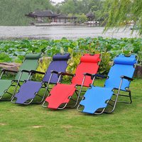 Hot Selling Portable Folding Leisure Dual Purpose Sun Chair Recliner Beach Sun Loungers Multicolor Soft Balcony Chairs