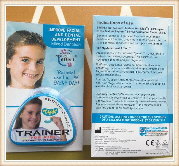 T4K Blue  Teeth Trainer Myobrace/ early mixed dentition  Pre-Orthodontic Trainer for Kids T4K/Deep bite Orhtontic Trainer T4K original mrc i 3n orthodontic teeth trainer myobrace interceptive class iii i 3n stage i