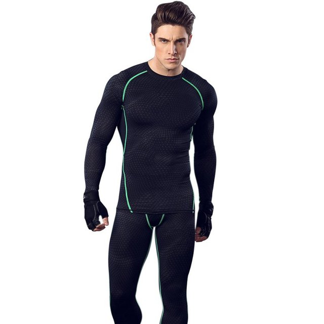 Cool Men Boy Long Sleeve Vest Shirt Skin Tight Muscle Fitted Tank Sport Compression Running Athletic Wicking Gym Yoga Clothes