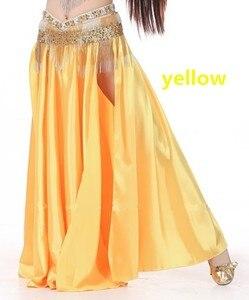 Image 5 - Костюм для танца живота, юбка с разрезом сбоку, 14 цветов