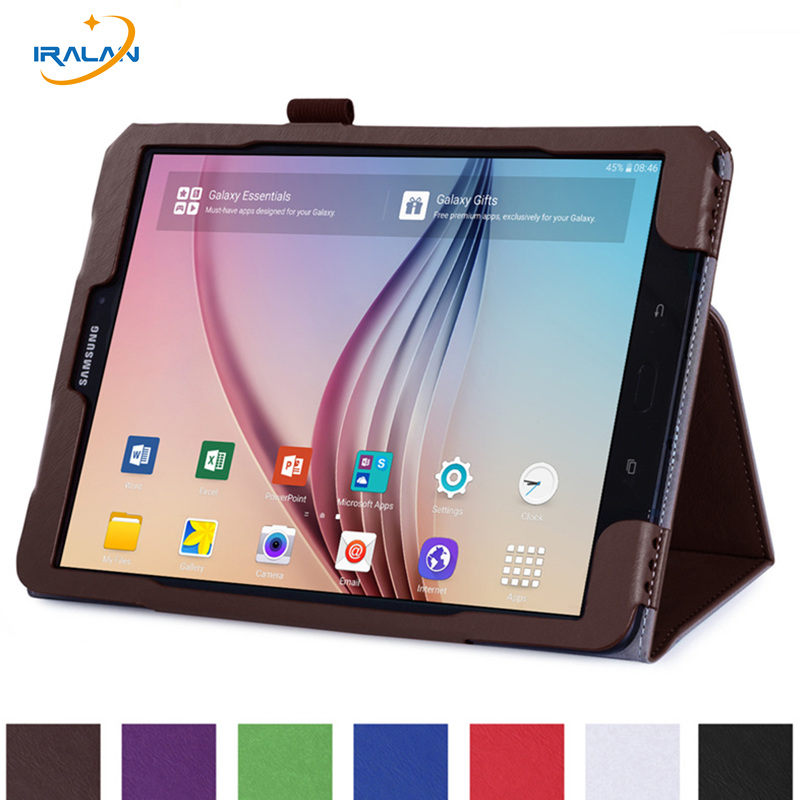 New High Quality Folding Flip Case For Samsung Galaxy TAB S3 9.7 T820 T825 SM-T820 Litchi Skin Leather Stand Tablet PC Cover+pen