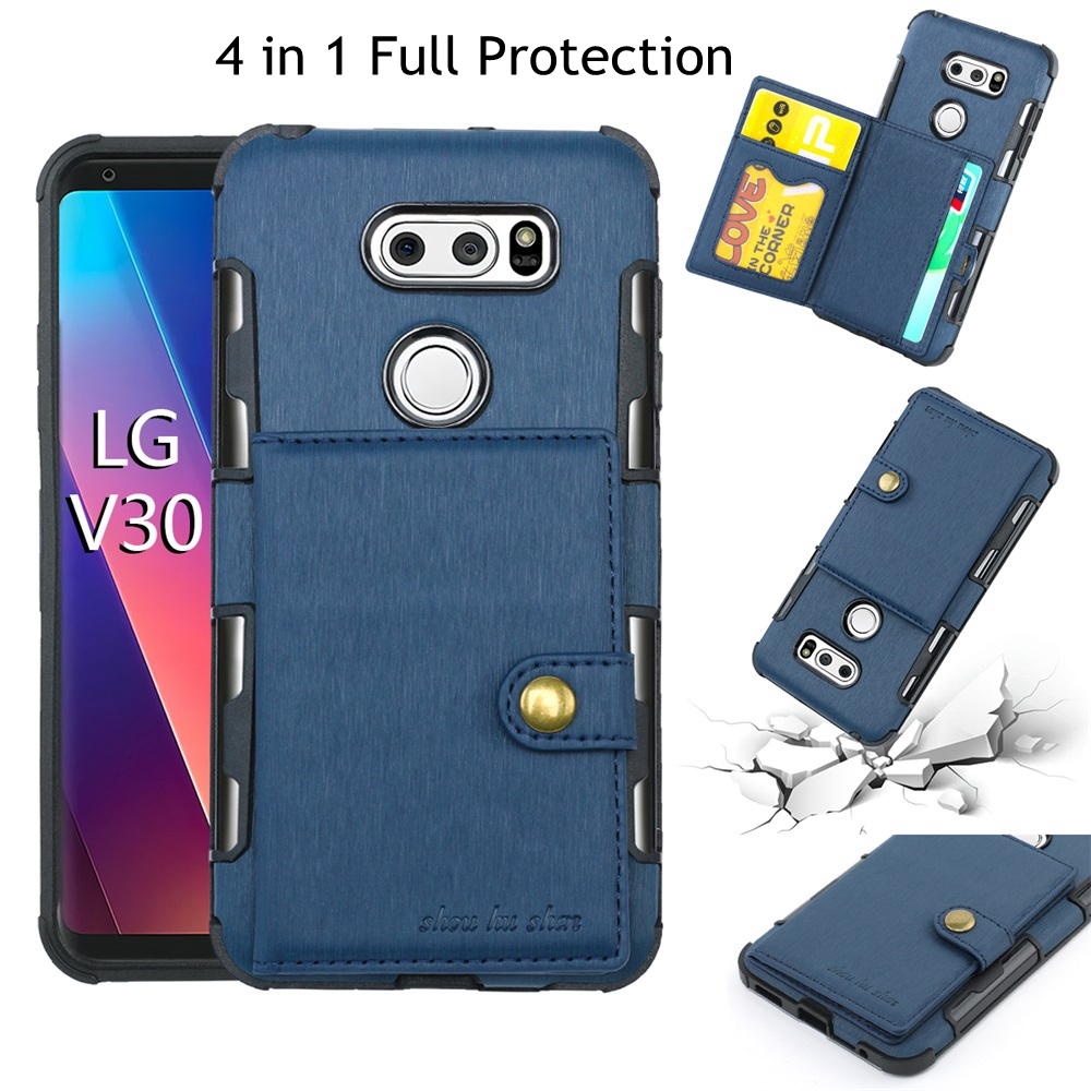 Case For Moto G4 G5s plus LG V30 Coque Luxury Retro PU Flip Wallet Case Cover For Moto G5 G5plus E4 plus Phone Case Accessories