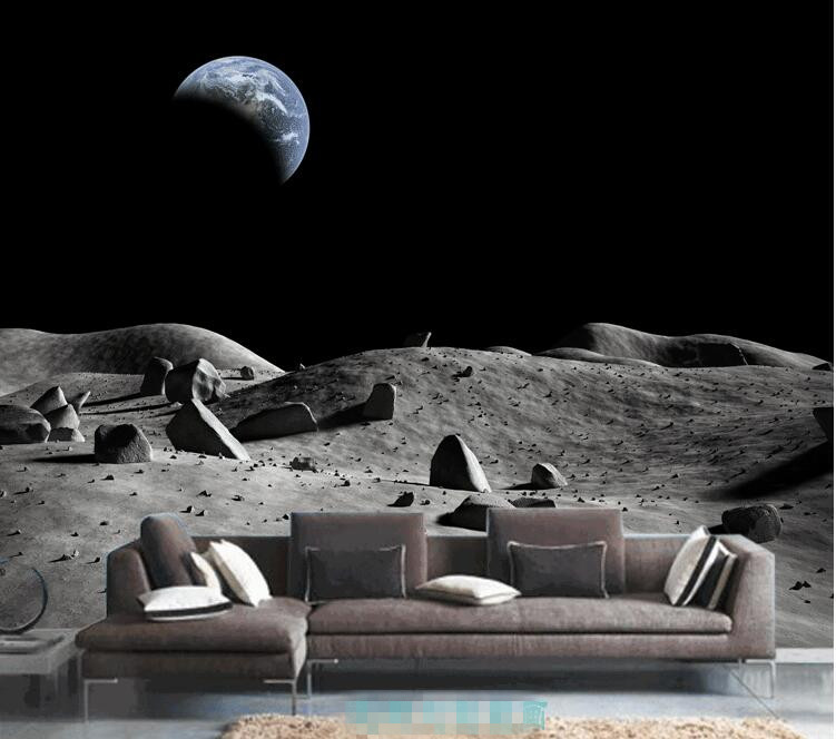 Aliexpress.com : Buy 3D The Lunar Outer Space Wall Mural ,Custom Wallpaper  According To Your Wall Dimensions,The Price Per One Square Meter From  Reliable ...