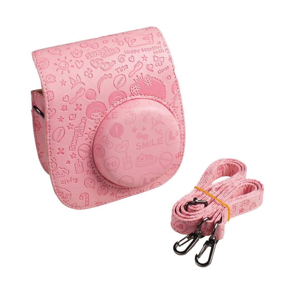 Fujifilm instax mini camera Case - Pu Leather Instax Mini 8 Camera Bag  - Instax Mini 8 Case with Shoulder Strap Pocket