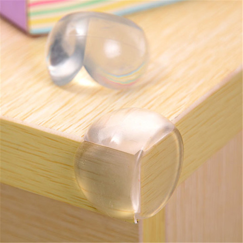 4Pcs Child Baby Safety Silicone Protector Table Corner Edge Protection Cover Children Anticollision Edge & Corner Guards New Hot