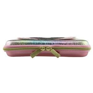 Image 2 - Nieuwe Kawaii Mooie Etui Voor Meisjes School Pen Box Spiegel Potlood Tas Pen Container Eva Materiaal Lint Sequin Briefpapier tas