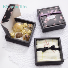 2pcs High-grade Flip Tea Handmade Soap Moon Cake Packaging Gift Box 80g Towel Clothes Gift Box Festive Party Supplies цены