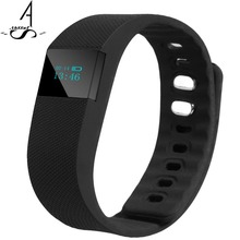 AhSSUF FitnessTracker Smartband Bluetooth OLED Displa Smart Bracelet Vibrating Alarm Sports Wristband For Android IOS Phone TW64