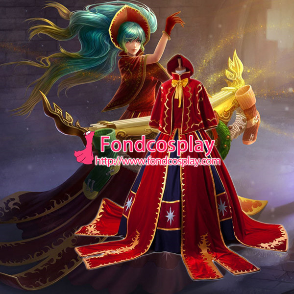 Lol Sona Maven du jeu de robe de cordes Costume Cosplay sur mesure [G928]