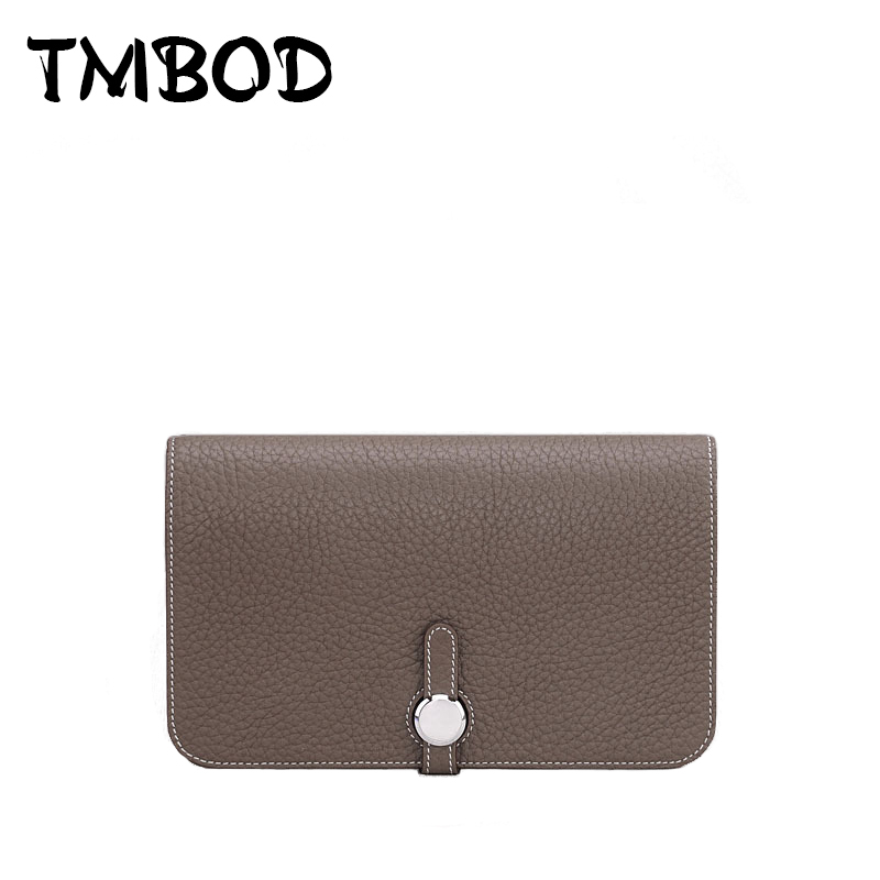 2019 Design Simple Women Genuine Leather Long Purses Wallet Ladies Clutch Multiple Card Holder Wallet bolsos