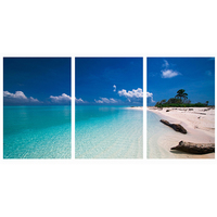 Modular Wall Paintings Summer Sand beach Seascape Poster and Prints on Canvas Oil Painting Picture Art for Room Hotel Decor
