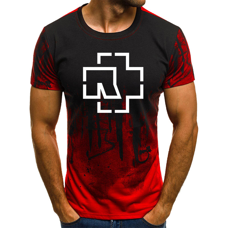 2019 New Rammstein   T     Shirt   Casual Harajuku Streetwear   T  -  shirts   Men Short Sleeve Summer Top Tee Hipster Rock Tshirt