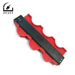 250mm Template Curvature Scale Ruler Contour-gauge Laminate Carpet Wood Tile Profile Measure Ruler Durable