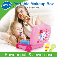 Pretend Play Toys Children Makeup Set Hairdressing Make Up Kids Girls Simulation Toy Plastic Toy Dressing Table Toy