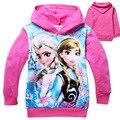 Anna Elsa Elsa Com Capuz Roupa Dos Miúdos Dos Desenhos Animados Meninas Hoodies Manga Longa Top Meninos Camisola Meninas T-shirt Crianças Roupa Com Capuz