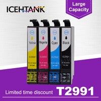 T2991 29 29xl cartucho de tinta compatível para epson t29 para epson xp 235 332 432 247 442 342 345 cartuchos de impressora tinta cheia