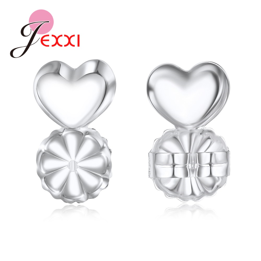 JEXXI 2/10 PCS Wholesale New Fashion 925 Sterling Silver Handcrafts Earring Backs Stoppers Fits All Post Jewelry Component