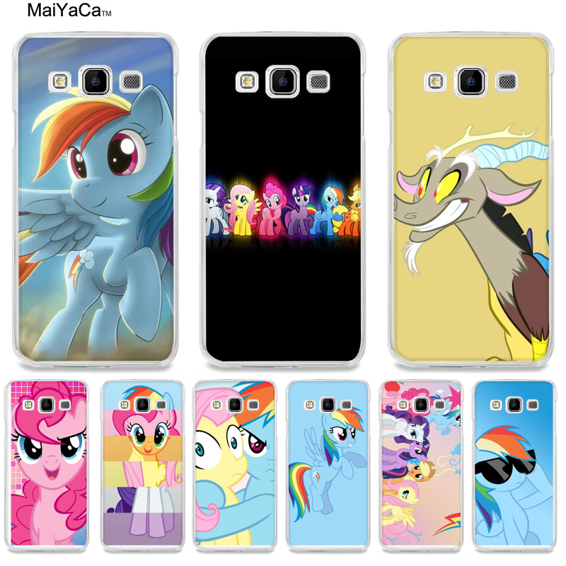 MaiYaCa blue pink My Little Pony Rainbow Dash Clouds phone accessories case for samsung A510 A3 A7 A8 A9 note 4 note3 case funda ...