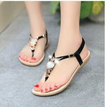 Shoes Woman Summer New Flat With Flat Sandals Female Students Tide Korean Female Diamond bohemia