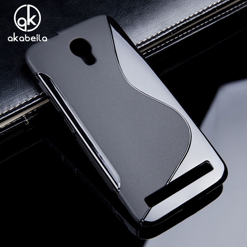 AKABEILA Soft Black Case For Alcatel OneTouch Idol2 Mini Idol4 Idol 4 4S Pop2 6037 6055 6070 7044 7043A <font><b>7043Y</b></font> 7044 Silicon Cover image