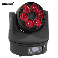 Novelties LED 6x15w Beam Wash Light Bee Eye Moving Head RGBW 4in1 LED Quad Dj Light Bowling Centers Or Any Mobile Production