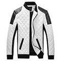 2017 winter mens black white leather jackets and coats men biker motorcycle jacket leather coats&jacket men M-6XL