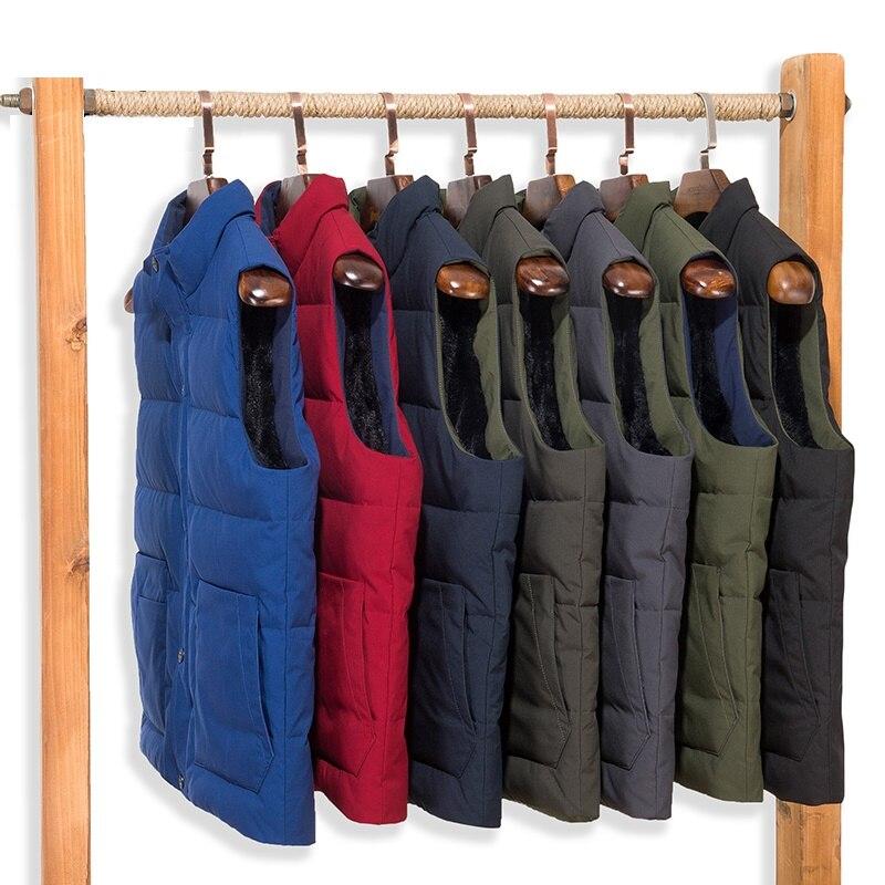 Для Мужчин's Повседневное утка пуховой жилет Теплый пуховик пальто для Для мужчин мужской