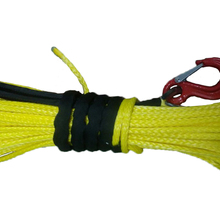 Synthetic Winch-Rope Car-Accessories 10mm-X-30m Hook with Yellow-Colour for 3/8--X-100'