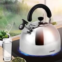 4L кухонный чайник со свистком из нержавеющей стали, индукционная плита, походные газовые чайники, плита с верхним свистком, чайник для приготовления пищи