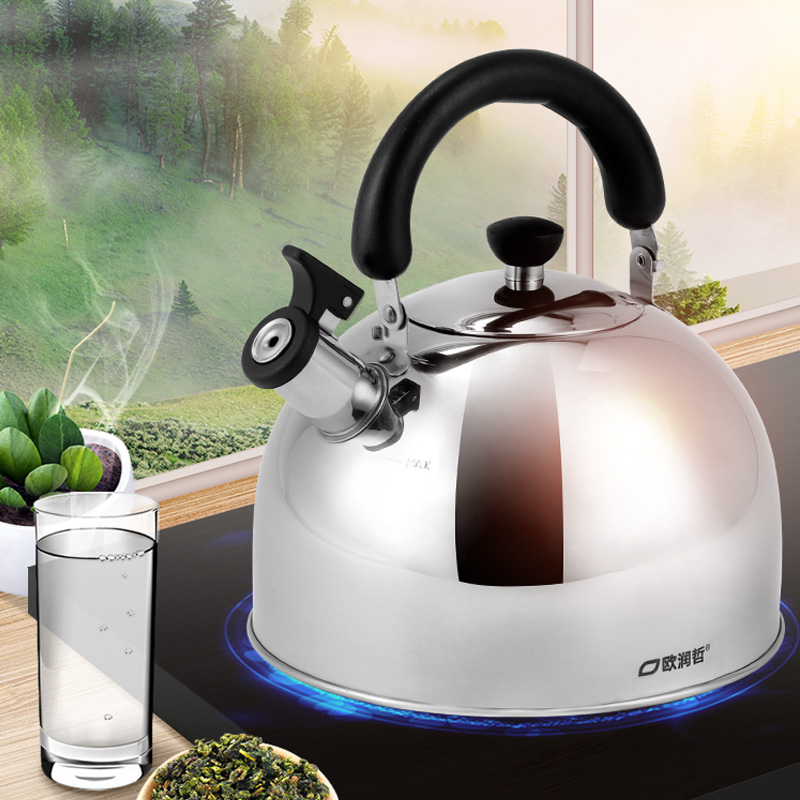 <font><b>4L</b></font> Kitchen Stainless Steel Whistling <font><b>Kettle</b></font> Induction Cooker Camping Gas <font><b>Kettles</b></font> Stove Top Whistling Water Teapot Cooking image