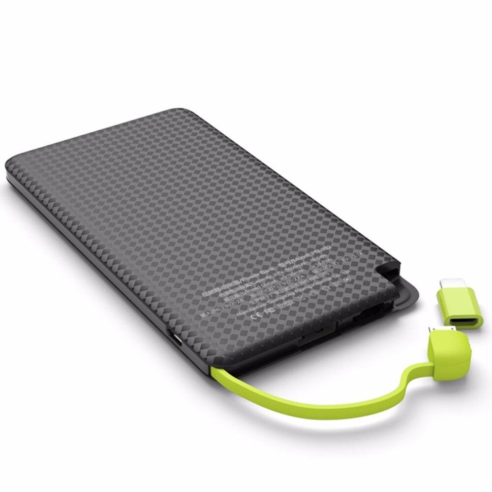 imágenes para 5000 mAh PINENG Banco Móvil de Carga Rápida Batería Externa Portátil Cargador de Batería del Li-polímero Para El Teléfono Android Para Iphone