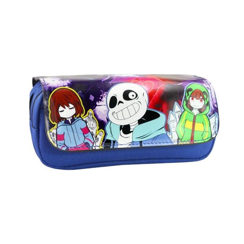 kids long wallet game undertale purse bag emoji face children pen case makeup bags women case zipper neceser