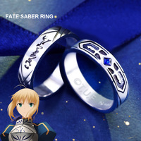Fate/Stay Night Saber 925 Sterling Silver Ring Men Jewelry Costume Accessories Birthday Gifts For Boyfriend Boys