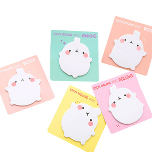 Image 1 - 36 pcs/lot Molang Rabbit Memo Pad Sticky Notes Cartoon Post Bookmark Stationery Label Stickers School Supplies Notepad escolar