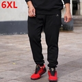 Winter plus size men's clothing casual pants big size velvet thickening male pants trousers push-up 6XL 5XL