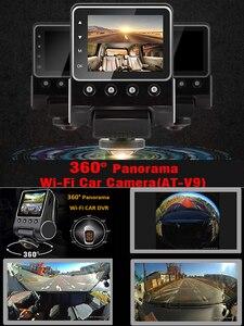 Image 5 - Relee Auto DVR Panoramisch uitzicht Draadloze Camera 360 graden voor auto Dash cam 1080 P Nachtzicht Video opname WIFI camera